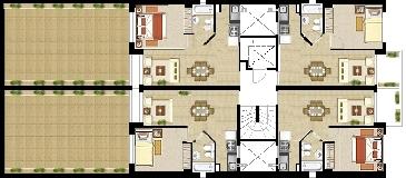 Edificios muelle for Edificio de departamentos planos